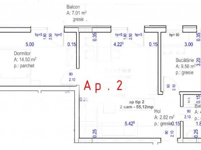 Apartament cu 2 camere, Baciu