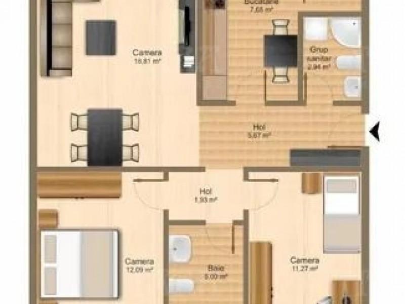 Apartament Cu 3 Camere Floresti ID V872469 1