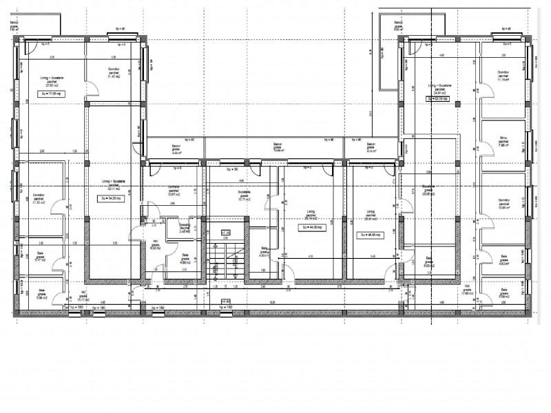 Apartament cu 3 camere, Manastur