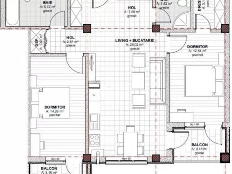 Apartament Cu 3 Camere Baciu ID V609259 4
