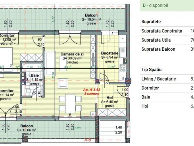 Apartament Cu 3 Camere Semicentral ID V353745 1
