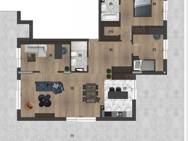 Apartament cu 4 camere, Bulgaria