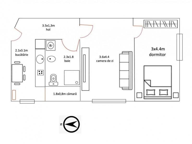 Apartament Cu 2 Camere Semicentral ID I1332834 9