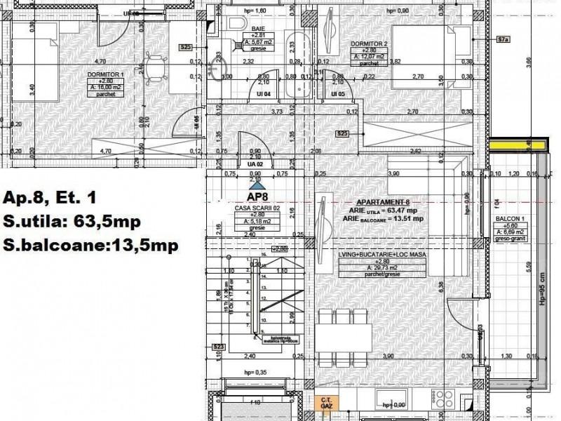 Apartament Cu 3 Camere Floresti ID V1141150 1