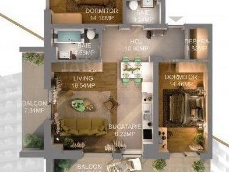 Apartament Cu 3 Camere Semicentral ID V630723 1