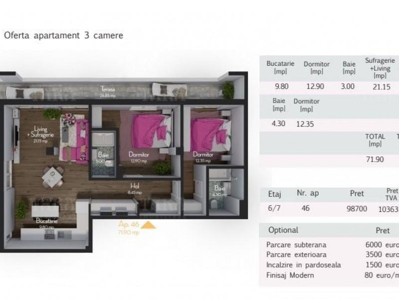 Apartament Cu 3 Camere Zorilor ID V517313 2