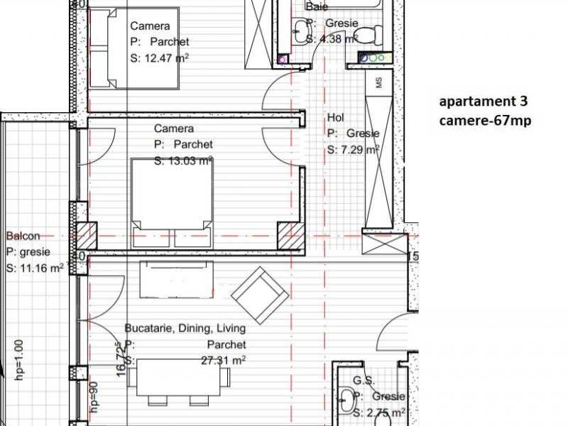Apartament Cu 3 Camere Dambul Rotund ID V560514 1