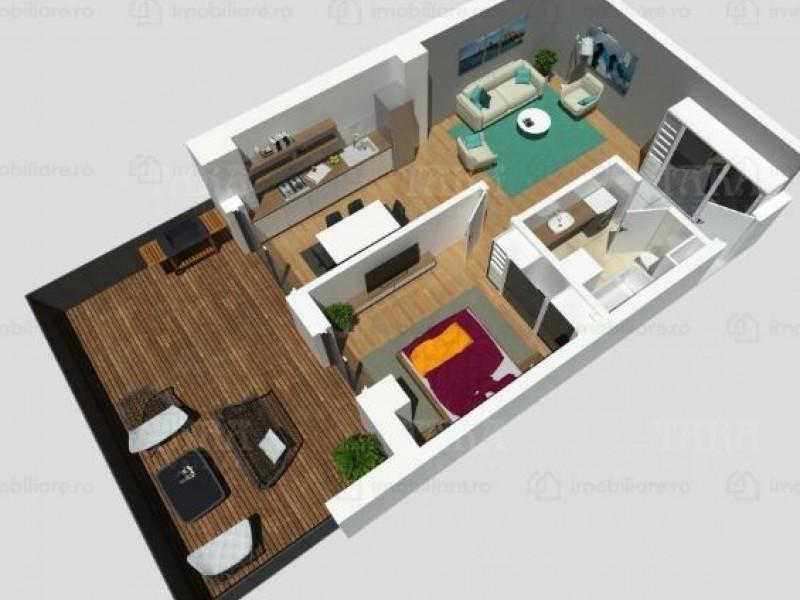 Apartament cu 2 camere, Buna Ziua