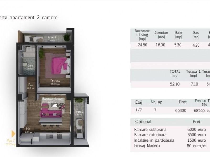 Apartament Cu 2 Camere Zorilor ID V517283 3