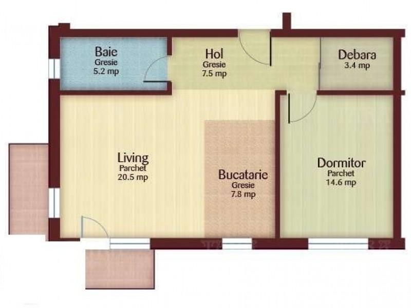 Apartament Cu 2 Camere Floresti ID V542444 4