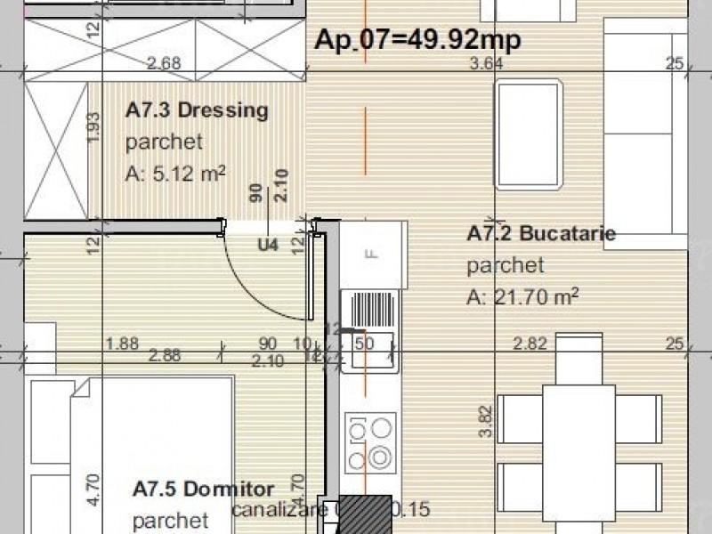 Apartament cu 2 camere, Someseni