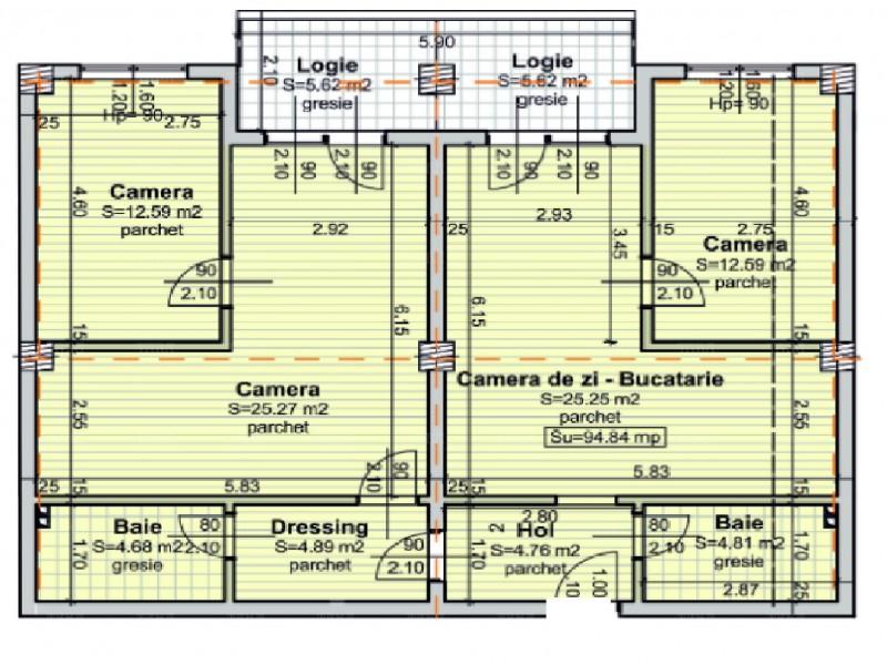 Apartament 4 camere, Baciu