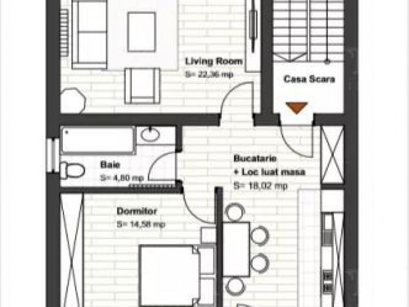 Apartament Cu 2 Camere Europa ID V824649 7
