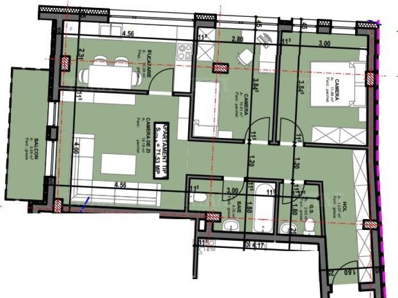 Apartament Cu 3 Camere Semicentral ID V518482 1