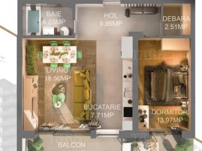 Apartament Cu 2 Camere Semicentral ID V613633 1