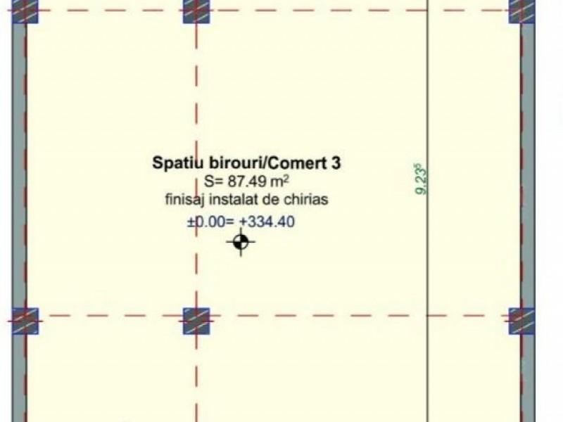 Spatiu 87mp, Semicentral