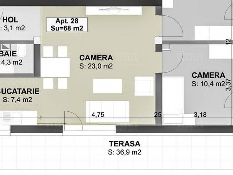 Apartament cu 3 camere, Sannicoara