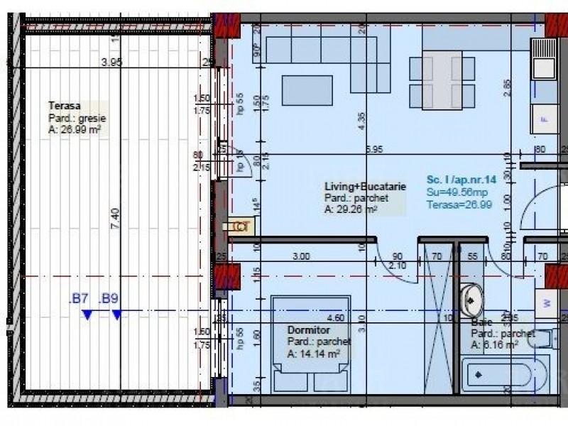 Apartament Cu 2 Camere Plopilor ID V622724 1